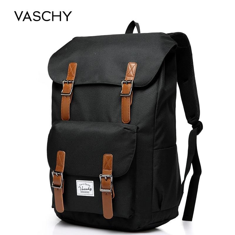 VASCHY  Men's Backpack Student Bag College High School Bags Travel Bag Laptop Backpack Bookbag  Women Backpack
