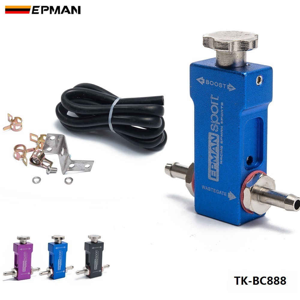 EPMAN Sport 1-30PSI Manual Turbocharger Wastegate Boost Bypass Controller  Universal Boost Tee Type For Ford Focus 98-12 TK-BC888