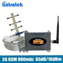 65dB 2 г/м² сигнал повторителя GSM 900 мГц Мобильный усилитель сигнала усилитель полный набор с ЖК-дисплей дисплей Яги/ штыревая антенна + 10 м кабель