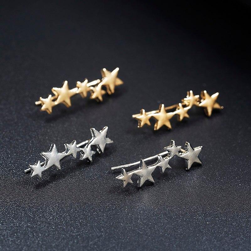 Лунная звезда, уши альпиниста, крошечная звезда, Луна, серьги-гвоздики для женщин, на каждый день, для подростков, День матери, подарок на день рождения, ювелирное изделие, серьги