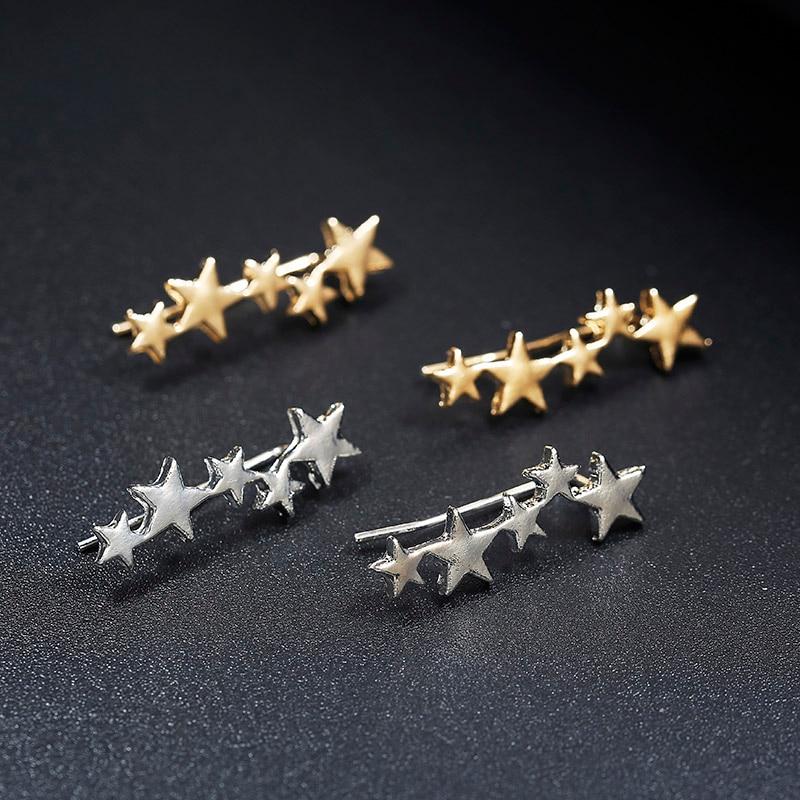 Moon Star Ear Climber Tiny Star Moon Stud Earrings For Women Everyday Teen Mothersday Celestial Birthday Gift Jewelry Earrring 1