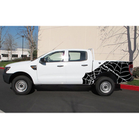 free shipping 2 PC webs spider 4X4 wildtrack body rear tail side stripe graphic vinyl for 4x4 Ford ranger 2012 2013 2014 2015