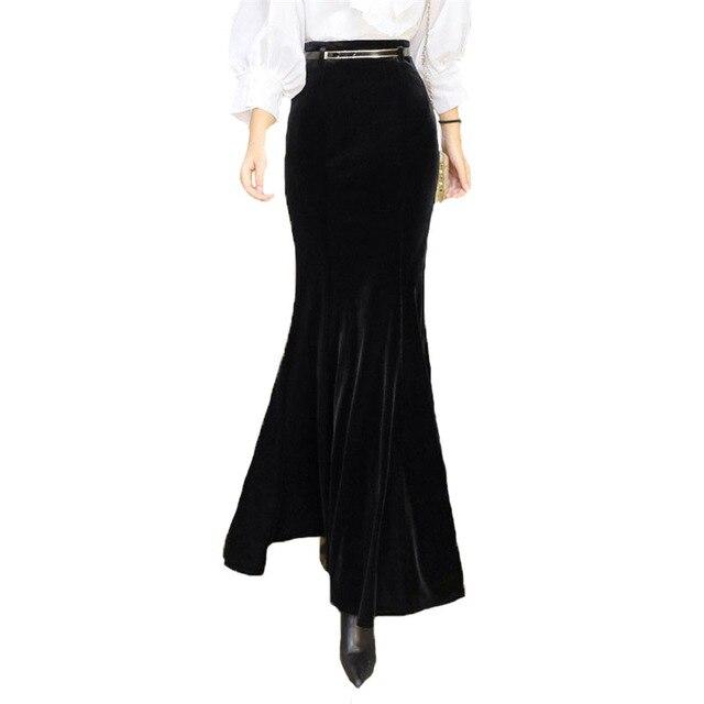 Nueva Sirena Cintura Alta Falda Elegante Negro Oficina de Trabajo de ...