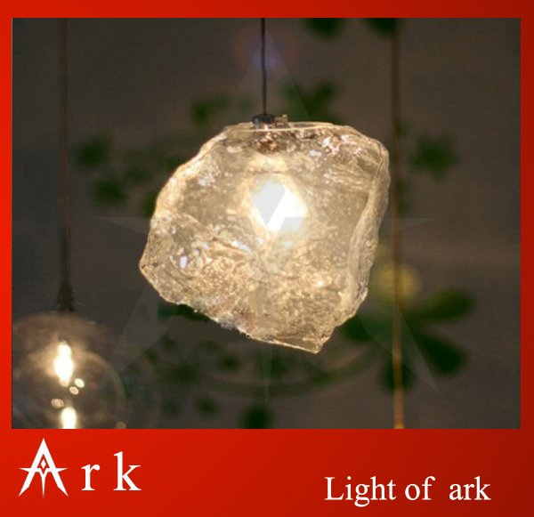 ark light Free Shipping Hot Selling 1 pcs ice glass Light Shining style Crystal Ice pendant lamp ,Fixture