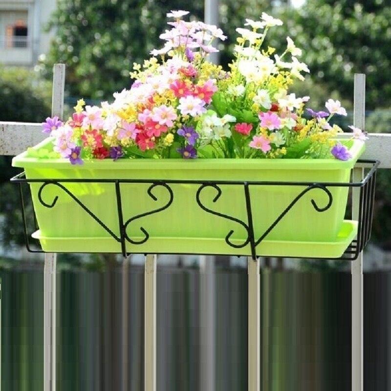 Pour Plante Raflar Shelves Sera Outdoor Decor Decorer Balcon Metal Varanda Shelf Balcony Plant Stand Balkon Flower Iron Rack