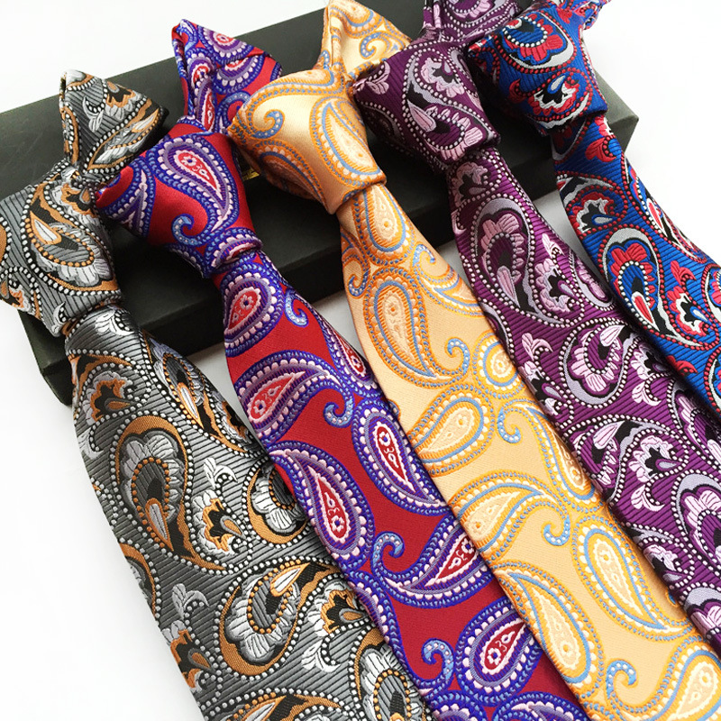 Silk Classic Paisley Cashew Nuts Flowers JACQUARD WOVEN Men's Tie Necktie 100% Silk Men Formal Business Wedding Party Gravatas