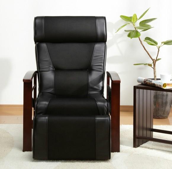 Altura Ajustable Mecanismo Con Sofá Taburete Silla Reclinable de Cuero Muebles de Sala Moderno Sillón Reclinable de Ancianos