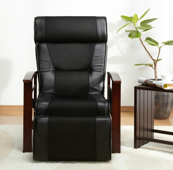 height adjustable leather reclining chair mechanism with pull out stool living room furniture modern recliner armchair