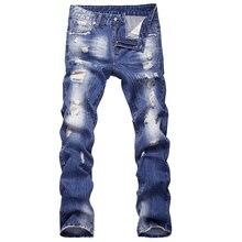 2016 neue stil loch patch bettler dünne männer jeans hosen männer denim gerade hosen 29-40 AYG26