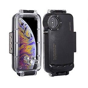 Image 2 - 40M Onderwater Duiken Case Voor Iphonexs Max Xr X Waterdichte Zwemmen Sport Fotografie Shell Cover Voor IPhone7 8 Plus surfriding