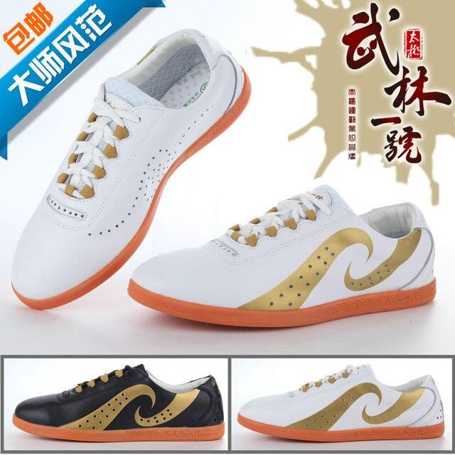 Высокого класса боевых искусств Тай-Чи обувь мужская воздуха отверстие подлинной кожа сухожилия конец Мастер Кунг-Фу Тай-Чи обувь, Обратите Внимание, размер
