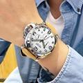 MEGIR Males's Large Dial Luxurious Prime Model Quartz Wristwatches Artistic Enterprise Stainless Metal Sports activities Watches Males Relogio Masculino HTB1UxJEsQCWBuNjy0Faq6xUlXXaS