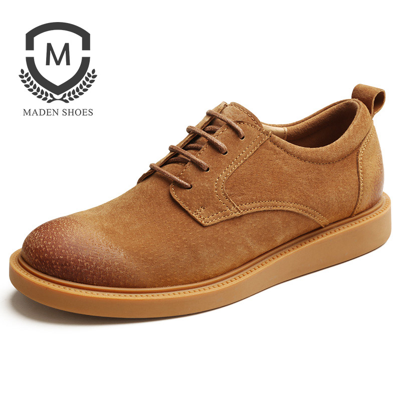 correspondência Maden Sapatos De Couro Low Básico Desportivo Coreano Casuais Sapatilhas Outono Marrom Clássico Anti top slip Homens grey yellow Das up Black Lace All Dos sandy Amarelo IPrCPqw