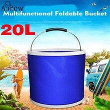 20l 자동차 세척 양동이 다기능 휴대용 야외 캠핑 foldable 양동이 낚시 양동이 자동차 세척 용품 물 가방