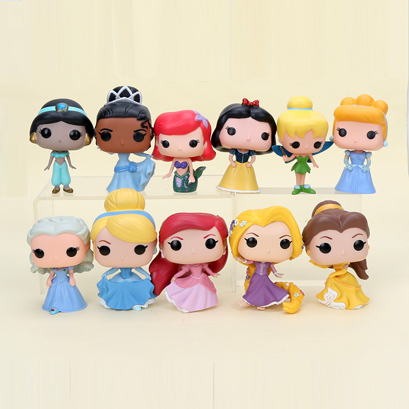 10cm Q vision Princess snow white tiana cinderella ariel hatsune miku rapunzel belle Action Figure Toy Model Doll hatsune miku winter plush doll
