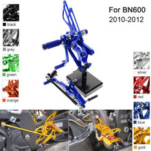 CNC Aluminum Adjustable Rearsets Foot Pegs For Benelli BN600 2010 2011 2012