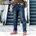 Sector <font><b>Seven</b></font> мужские новые тонкие городские повседневные джинсы средняя талия прямые джинсы классические Индиго синие Черные джинсы износостой...