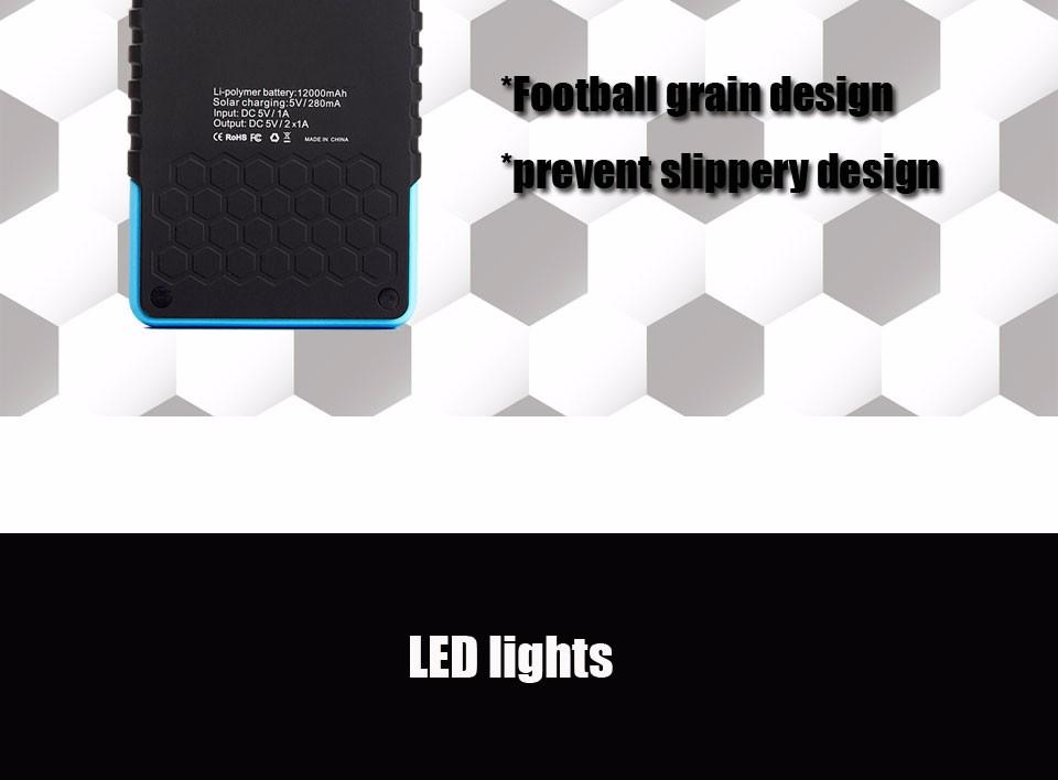 Tollcuudda Solar Panel Power Bank 100mAH Battery External Celular Charger Cargador For Xiao Mi universal Phone Solar PoverBank 20