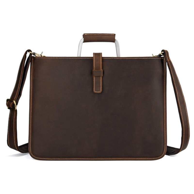 Men Vintage Genuine Leather Cowhide High Quality Handbag Briefcase Business Messenger Shoulder Bag Fashion Casual handbags