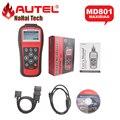 2017 A + + Качество AUTEL MaxiDiag Pro MD801 4 в 1 OBDII Код Сканер (JP701 + EU702 + US703 + FR704) MD 801 Автоматический Диагностический Инструмент