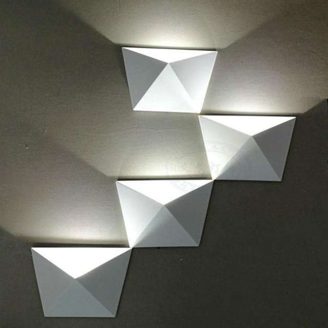 diy wall lighting. Magic Diy Geometric Box Combination Aluminum Led Wall Lamp For Living Room Bedroom Aisle Bar Deco Lighting