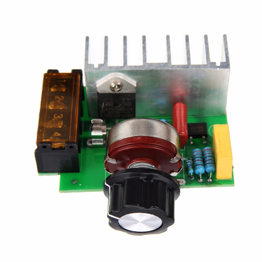 4000W AC 220V SCR Voltage Regulator Mayitr Adjustable Power Supply Board Speed Control Dimmer for Brush Motor Electric Iron