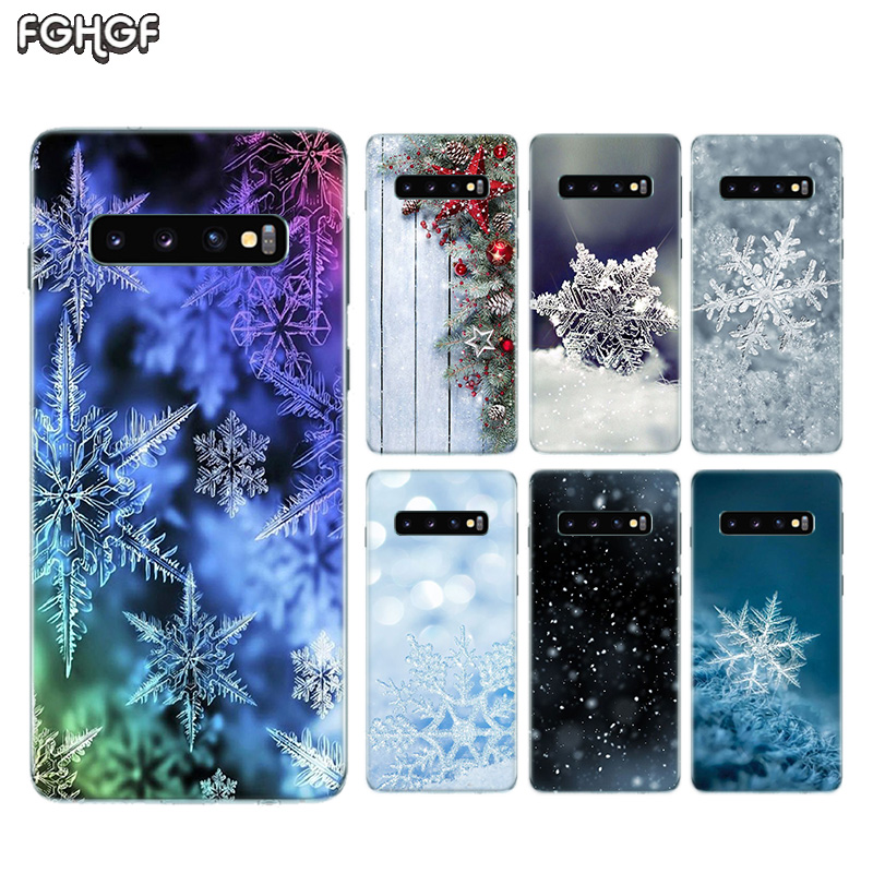 Winter Snow Flowers Riverdale Back <font><b>Case</b></font> For <font><b>Samsung</b></font> <font><b>Galaxy</b></font> S10 lite S9 S8 A6 A8 Plus 2018 <font><b>A50</b></font> M30 A30 M20 A10 M10 Note 9 8 Cover image