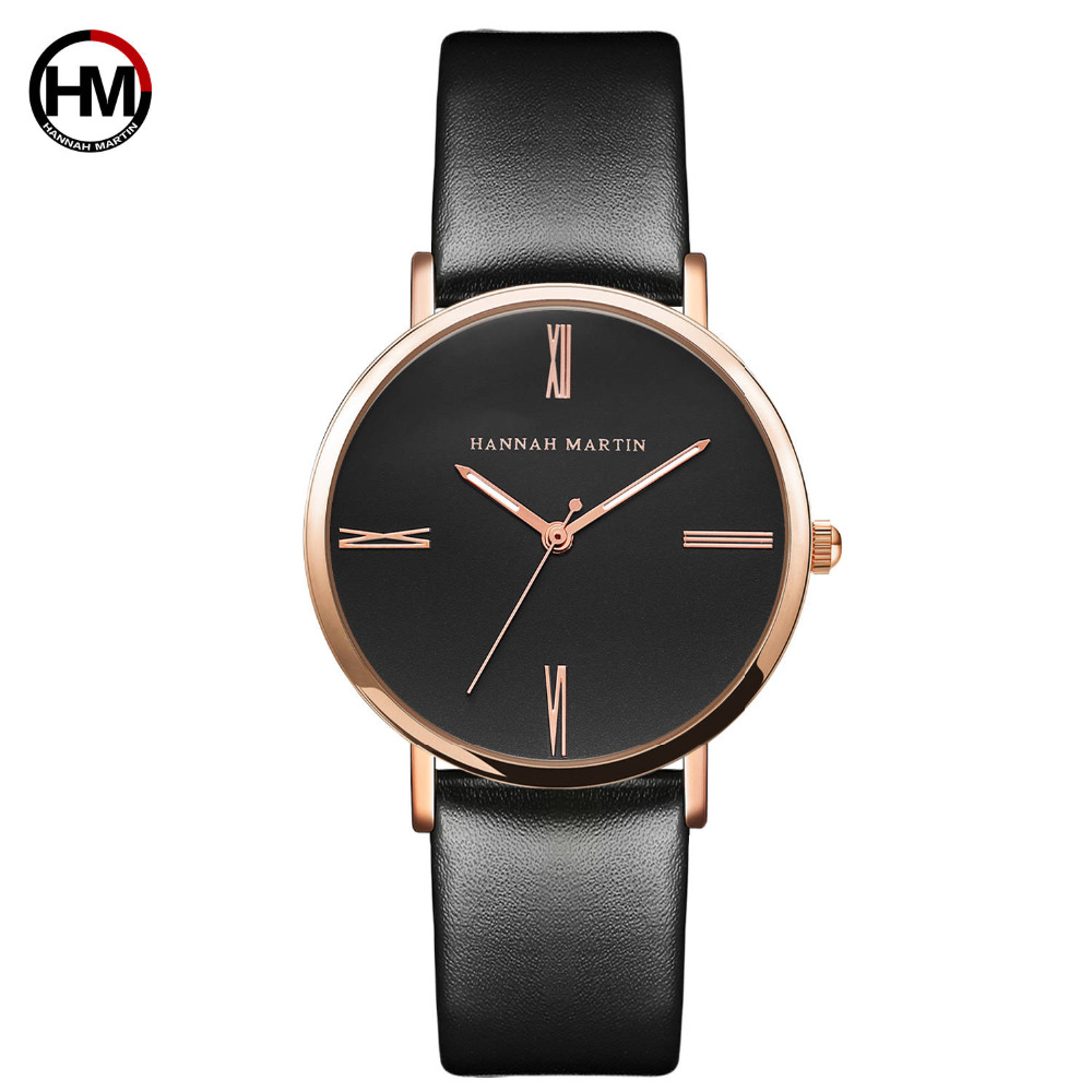 Japan Imported Movement Genuine Leather New Simple Design Watch Women Fashion Luxury Brand Quartz Clock Ladies Wrist Watches