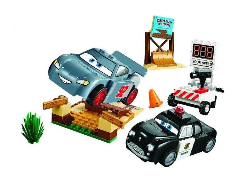купить 10685 99 pcs Pixar Cars 3 Foudre Juniors Smokey Garage de blocs de construction Jouets Educatifs Compatible avec racer voiture по цене 458.8 рублей