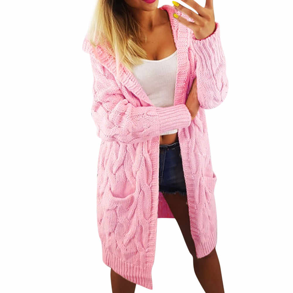 6b52d8cad78982 Outerwear Long Sleeve Loose Knitted Sweater Coats Jackets Womens Retro  Rivet Zipper Up Casual Outwear coats