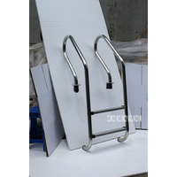 130cm Height 2 Step Ladder 304 Stainless Steel In Ground Swimming Pool Equipment Anti Skid Ladder Suit for 0.8 1.0m Depth SF 215