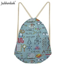 Jackherelook Women Drawstring Bags Physical Therapy Printed Sports Shoulder Adults Ladies Lightweight Outdoor Trainer