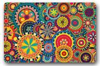 Daily Life Depot Custom Machine Clean Top Fabric & Non slip Rubber Backing Indoor Outdoor Doormat Door Mat Art Colorful Design