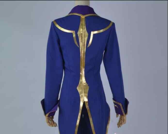 Code Geass Cosplay Lelouch of the Rebellion zera Cosplay fioletowy mężczyzna Code Geass Cosplay kostium pełny (zestaw) z peruką