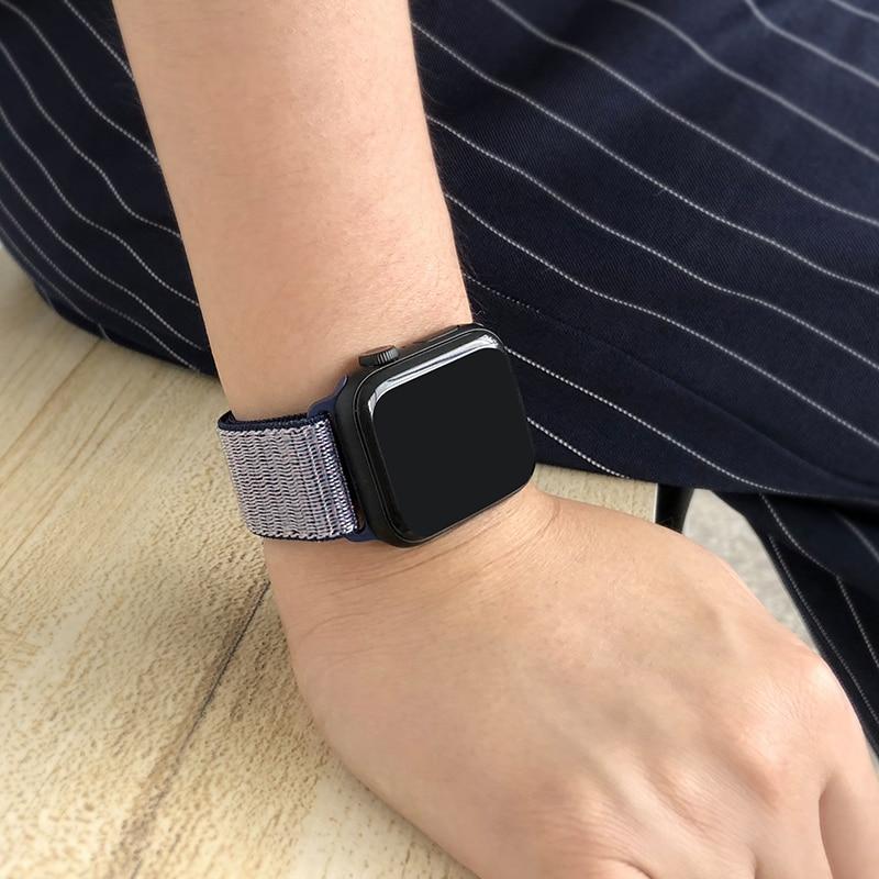 Для наручных часов Apple Watch, версии 3/2/1 38 мм 42 мм нейлон мягкий дышащий нейлон для наручных часов iWatch, сменный ремешок спортивный бесшовный series4/5 40 мм 44 мм