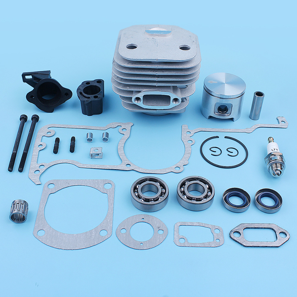 48mm Cylinder Piston Crank Bearing Gaskets Kit For Jonsered 630 625 Chain Saw Oil Seal Carb Bolt Intake Spacer Spare Parts