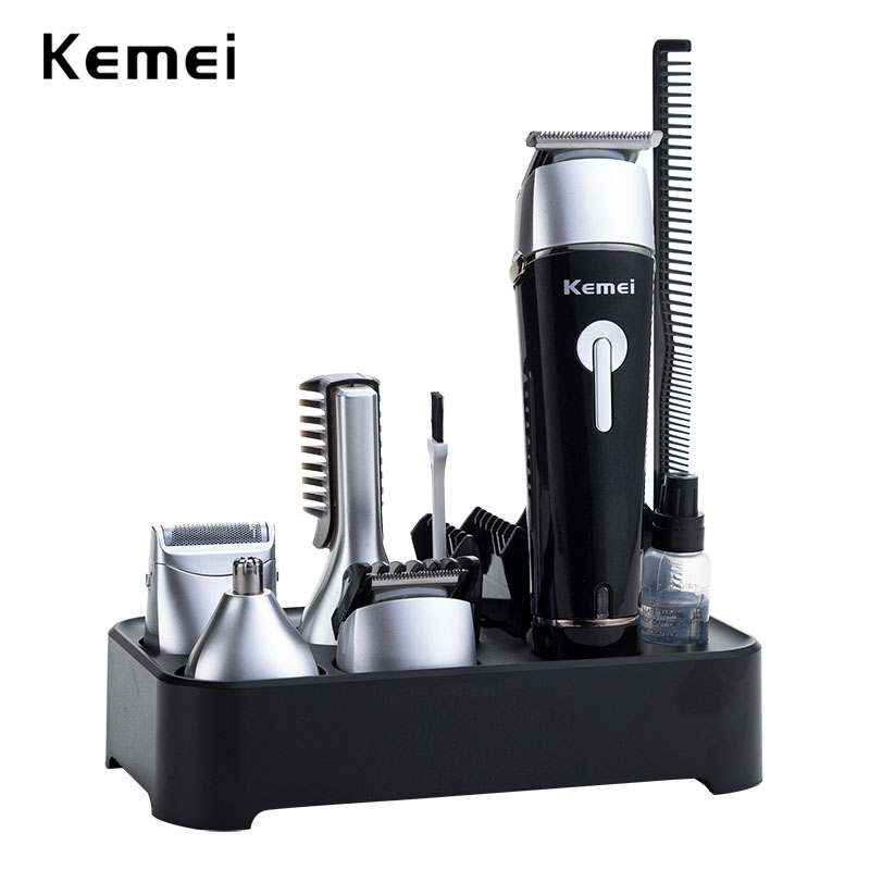 где купить Kemei rechargeable hair trimmer professional clipper men electric shaver razor hair cutting machine barber nose trimmer дешево