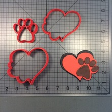 Hot sales Paw Heart Design Cookie Cutter Cake Decorating Tools Custom 3D printed Cake Baking Mould Fondant Mold