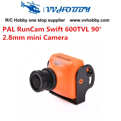 PAL Runcam Swift 600TVL MINI FPV Camera Horizontal Fov 90 angle 2.8mm Lens & Base Holder for Mini QAV FPV PAL System Orange PAL