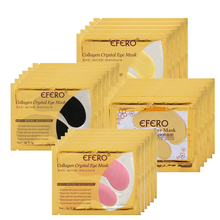 50Pair EFERO Gold Mask Collagen Eye Anti-Aging Anti Wrinkle Remove Dark Circle Patches for Face Skin Care