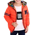 Kids 2017 winter new baby boys children cotton padded jacket thin thick warm Hooded Jacket