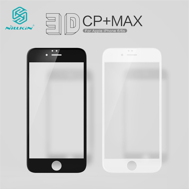 NILLKIN Amazing 3D CP+ MAX Full Tempered Glass Film For iphone 6 6s Silicone Edge Coverage Anti-Explosion Screen Protector 4.7""