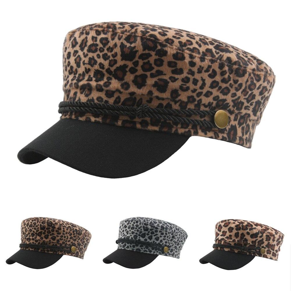 Jaycosin Four Season Outdoor Unisex Leopard Polyester Baseball Cap Military Hat Fitted Flat Top Women Hats Men Caps April18 P30
