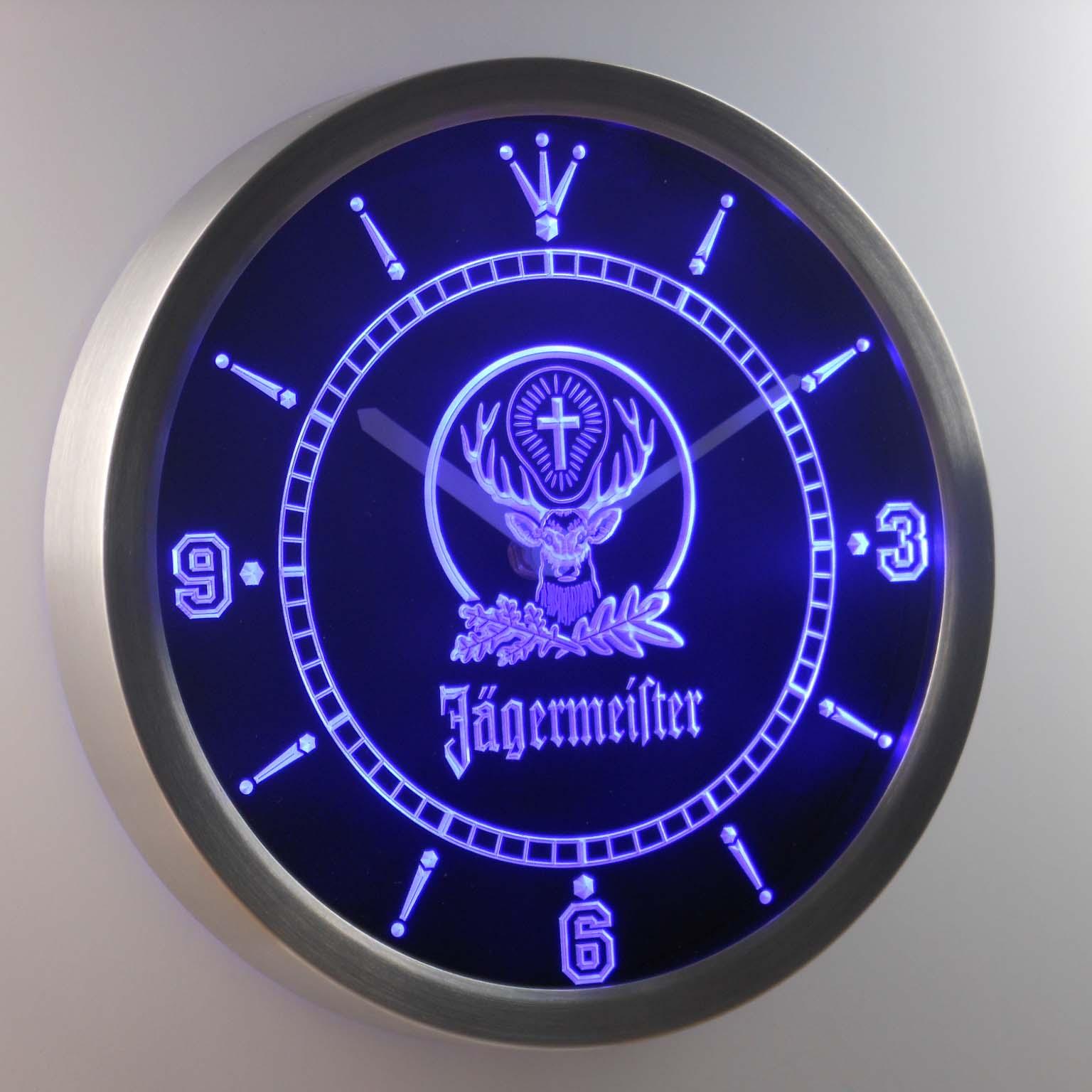 Jägermeister Neon verlichting LED Wandklok 2
