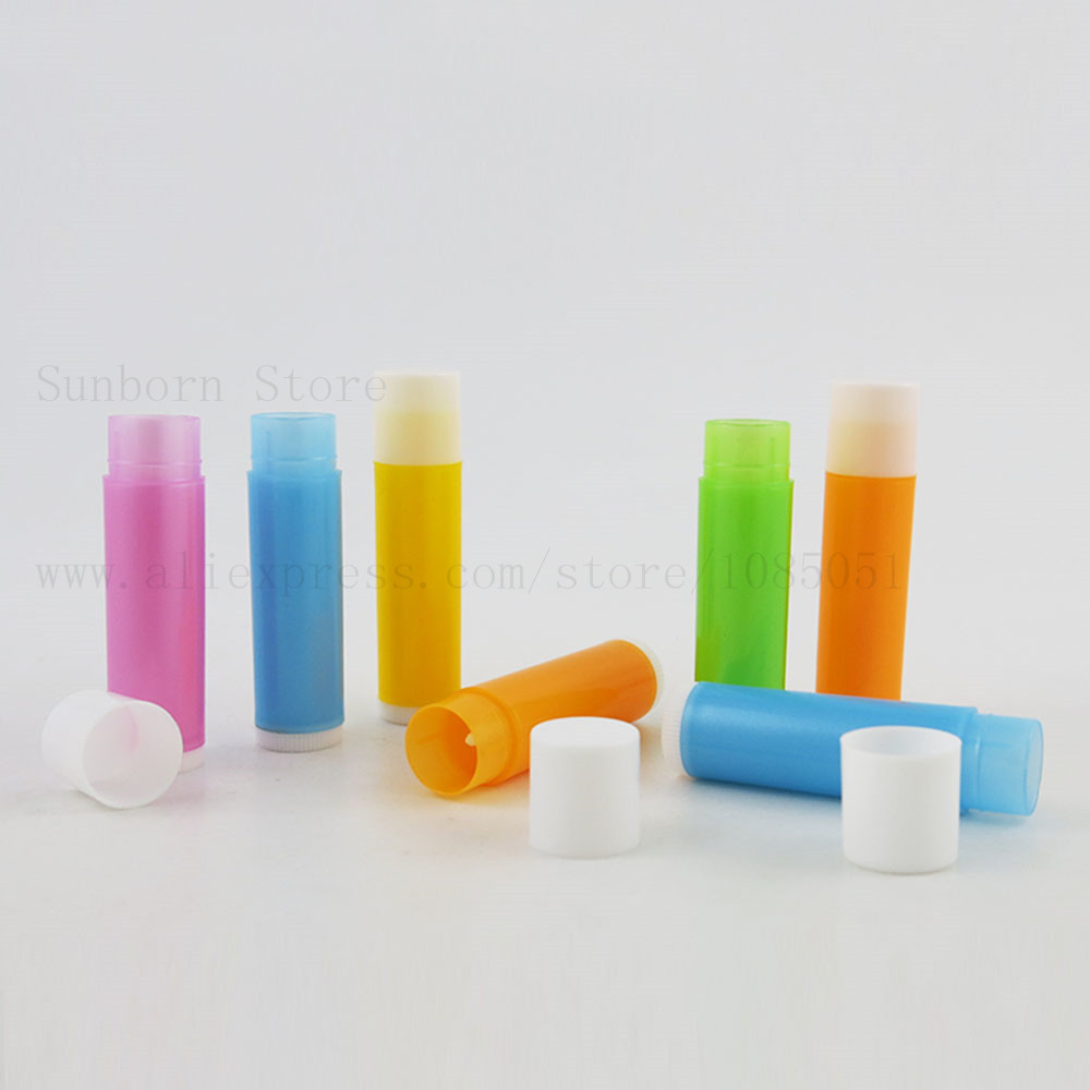 Купить с кэшбэком 5pcs 5g 5ml Lipstick Tube DIY Lip Balm Containers Empty Cosmetic Lip Balm Container Glue Stick Travel Bottles