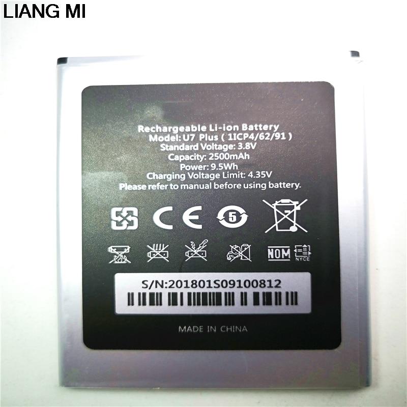 Oukitel U7 PLUS LA Batterie D'origine 2500 mah Remplacement De Batterie de Secours Pour Oukitel U7 PLUS Mobile Téléphone téléphone stander pour le cadeau