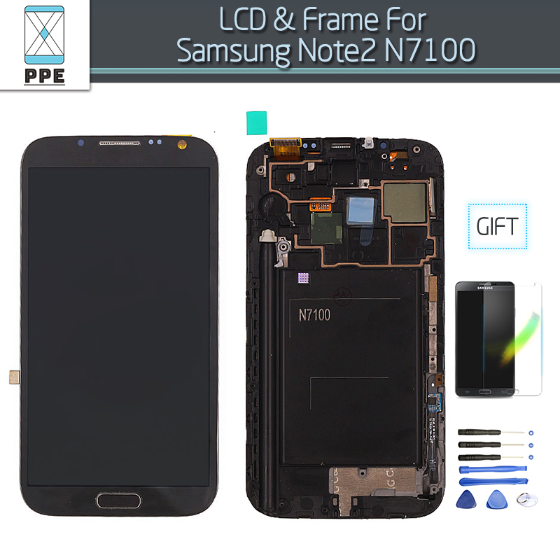 Подробнее о LCD Screen For Samsung Galaxy Note 2 N7100 LCD Display Touch Screen Digitizer Assembly With Frame Gift Screen Protectors lcd screen for samsung galaxy note 2 n7100 lcd display touch screen digitizer assembly with frame gift screen protectors