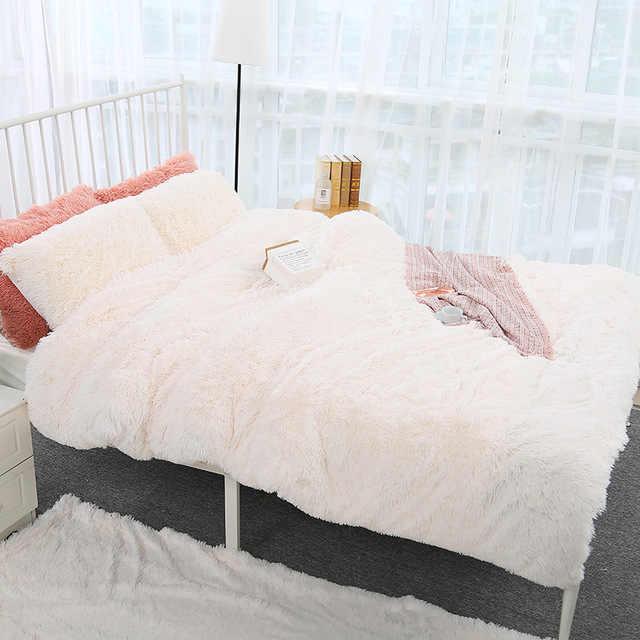 160*200cm élégant jeter couverture pour lit canapé couvre-lit longue Shaggy doux chaud literie feuille climatisation couverture