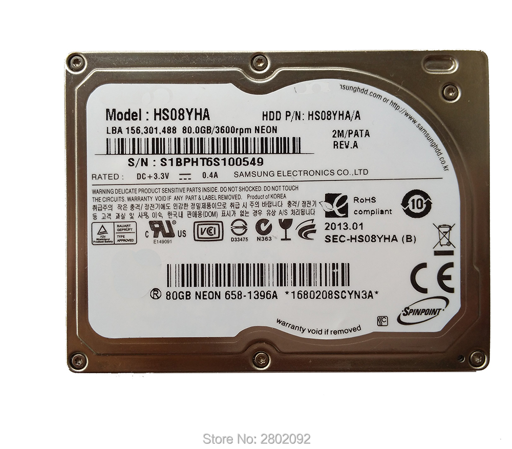 NEW 1 8 Hdd CE ZIF 80GB HS08YHA HARD DISK For IPOD CLASSIC 6 GEN REPLACE