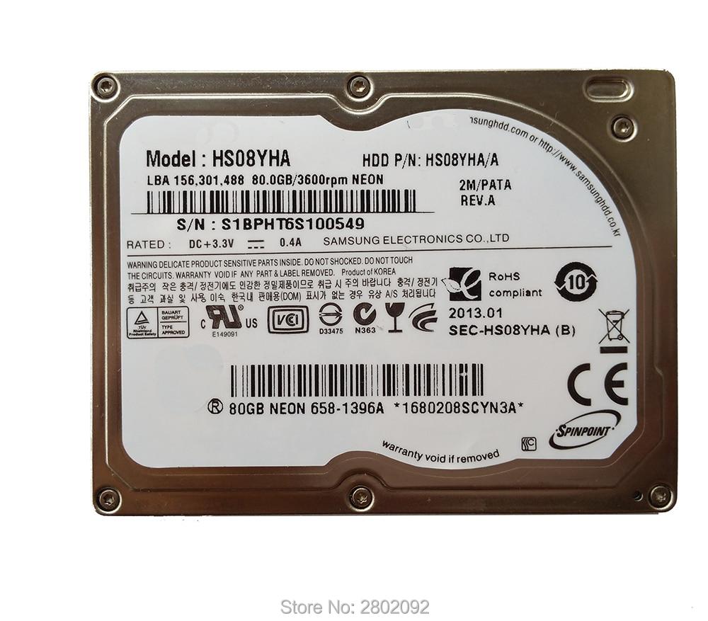 """Nouveau disque dur 1.8 """"Hdd CE ZIF 80 GB HS08YHA pour IPOD CLASSIC 6 GEN remplacer HS081HA MK8022GAA HS12YHA HS081HA pour IPOD CLASSIC-in Disques durs et boîtes from Electronique    1"""